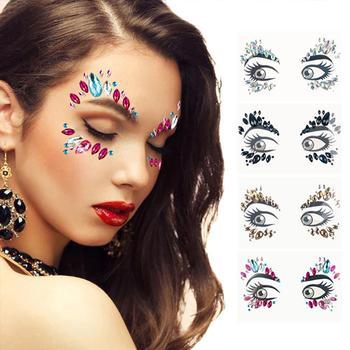 Temporary Rhinestone Glitter Tattoo Stickers Eye