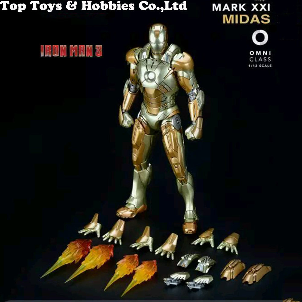 """1//12 Comicave Iron Man MK42 Action Figure Model 6/"""" Alloy Movable Toy Collectible"""
