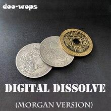 Digital Dissolve (Morgan Version) Magic Tricks Coin Visually Change Magia Magician Close Up Illusions Gimmick Props Mentalism