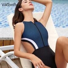 Padded Bikini One-Piece swimwear Swimsuit Women Vikionfly Bathing-Suit Backless Sexy