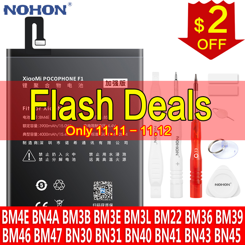 Аккумулятор NOHON BM4E BP41 BM47 BN43 BN41 BM46 BM22 BN30 BN31 BN40 BN45 BM36 BM39 BM3B BM3E BM3L BN4A для Xiaomi Pocophone F1 Redmi
