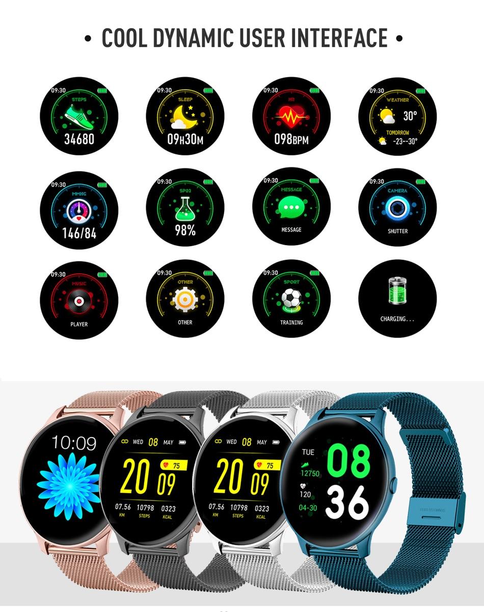 Hdece22f53efa453a81afce414a33101dG LIGE 2021 Fashion Smart Watch Ladies Heart Rate Blood Pressure Multifunctional Sport Watch Men Woman Waterproof Smartwatch Women