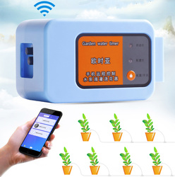 Telefon komórkowy pilot zdalnego sterowanie przez wifi urządzenie do podlewania inteligentny automatyczny nawadniania kropelkowego System roślina ogrodowa pompa wody zegar w Zestawy do podlewania od Dom i ogród na