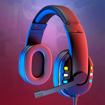 Gaming Headsets With Microphone PC Gamers Headsets Wired Headphones Backlit RGB Headset For Computer Tablet For Xbox One PS4 PS5 2