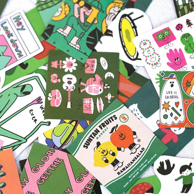 60PCS / Bag Wonderful Holiday Series Sticker DIY Scrapbooking Journal Week Phone  Album Diary Happy Planner Decoration Sticker