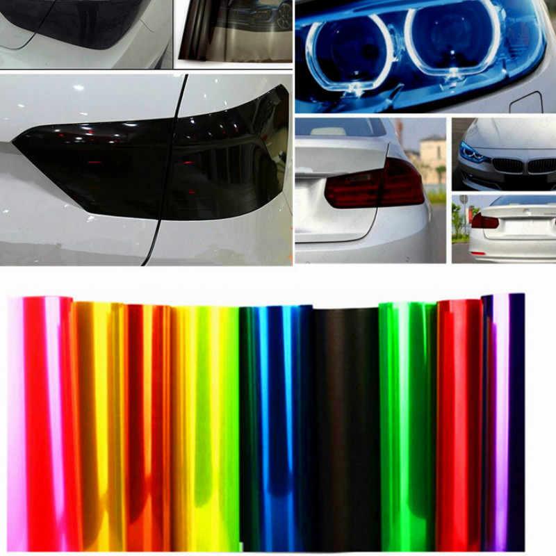30cm x 100cm Auto reflektor samochodowy tylne światła przeciwmgielne naklejka winylowa dla Peugeot 308 408 508 RCZ 208 3008 2008