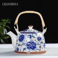 Chanshova china bule de porcelana com filtro net alta capacidade 500 900 ml tradicional chinês retro cerâmica chá conjunto