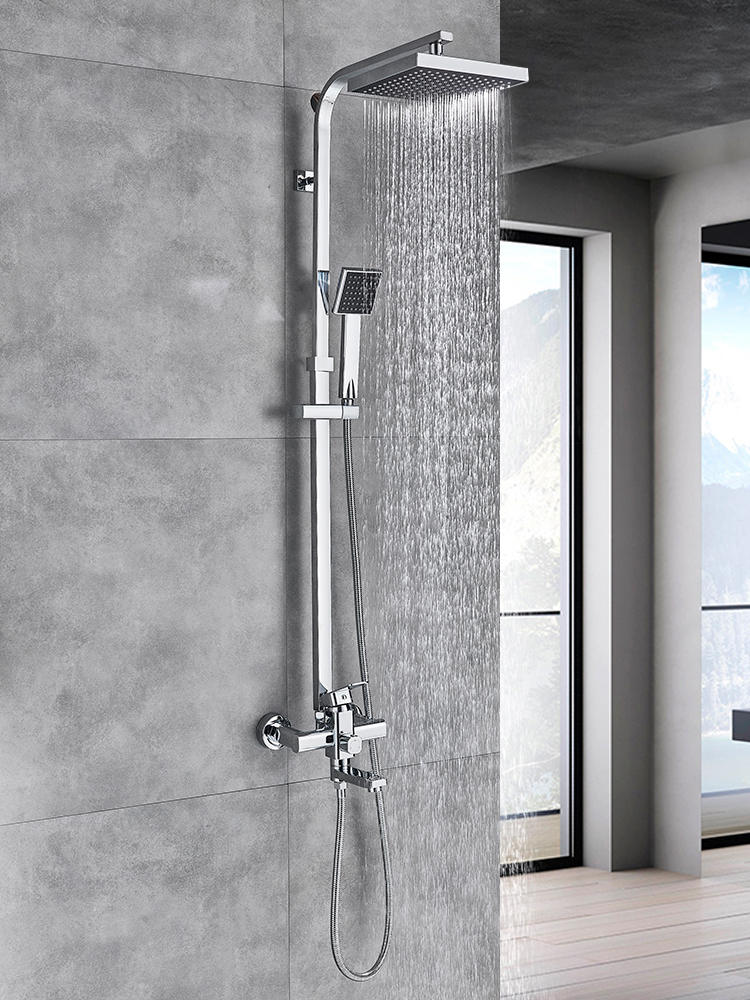 Shower-Mixer Faucet Wall-Mount Bath Spout Rainfall Uythner Best-Quality Chrome/black