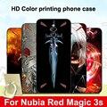 Для zte nubia Red Magic 3 s Чехол черный бампер Coque из мягкого силикона с рисунком задняя крышка для nubia RedMagic 3 s 3 s чехлы для телефонов