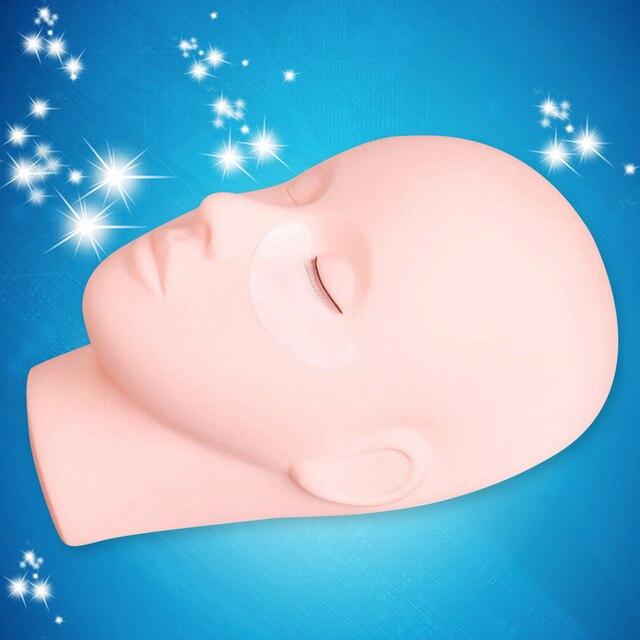 Manequim para extensão de cílios, maquiagem para olhos lisos e faciais, modelo de cosméticos, ferramenta de treinamento profissional