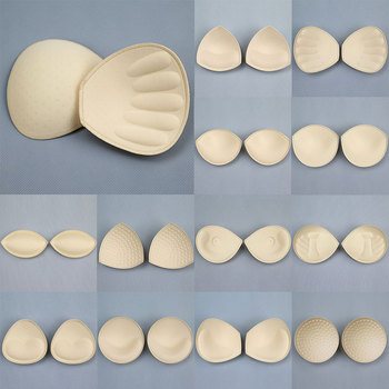 2pcs 1pair Sponge Inserts In Bra Padded for Swimsuit Breast Push Up Fill Brassiere Breast Patch Pads Women Intimates Accessories image