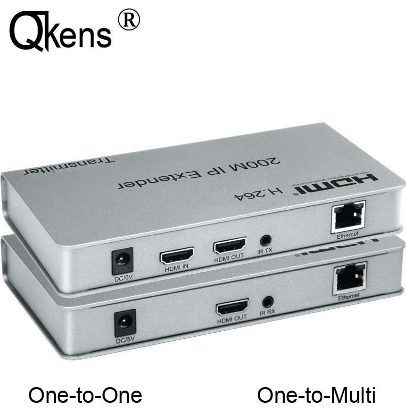 100M 200M IP Extender HDMI Extension sur RJ45 Cat5e/6 CAT6 Ethernet Lan câble réseau TX RX jusqu'à 4 émetteur 30 récepteur, pour PS3 STB Box DVD ordinateur PC à TV HDTV