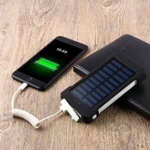 30000 мАч портативный солнечный внешний аккумулятор 30000 мАч водонепроницаемый внешний аккумулятор резервный внешний аккумулятор зарядное ус...