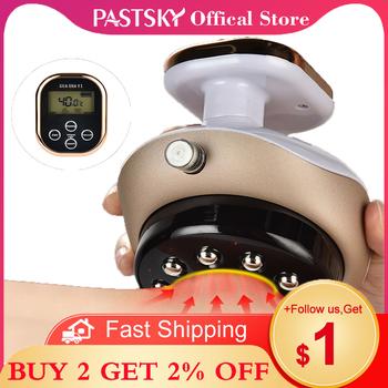 Elektryczne bańki Guasha masażer ujemne ciśnienie ogrzewanie EMS zasysanie próżniowe terapia podczerwienią skrobanie spalanie tłuszczu opieka zdrowotna tanie i dobre opinie PASTSKY CN (pochodzenie) Cupping Cans Vacuum cupping Massage body cups Vacuum massager vacuum cans White Gold US Plug EU Plug