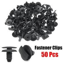50pcs Interior Clipes Bumper Fastener Clipe para Fender Grampo Fixo Rebite Tipo Push Retentor para Citroen/Peugeot