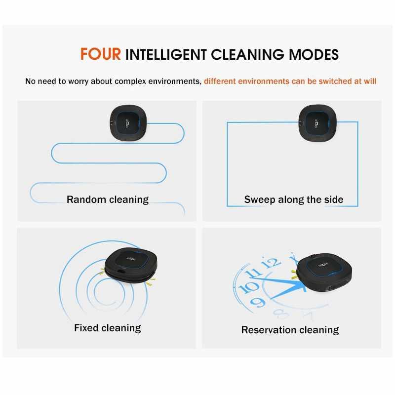 Автоматический робот пылесос для дома умная чистка влажной уборки ковра пыли подметания беспроводной
