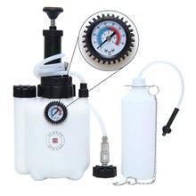 Samger Car Brake Bleeder Bleeding Fluid Change Kit With Guage Auto Vehicle 3 L Air Pneumatic Garage Vacuum Tool Set 40-58 PSI