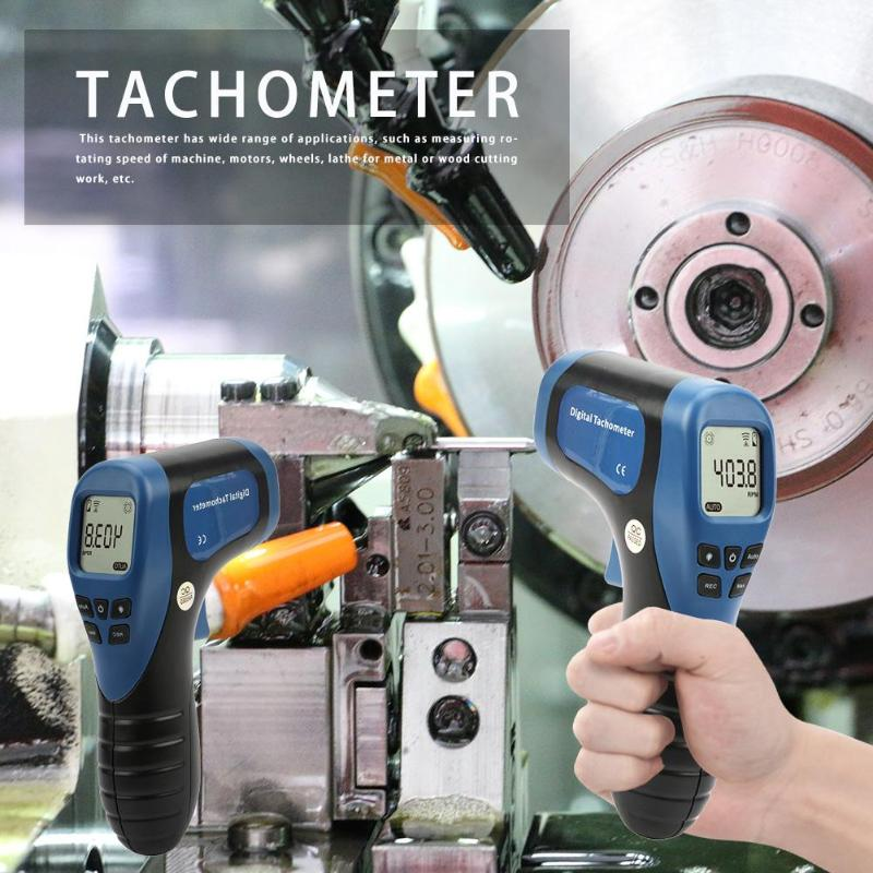 Image 4 - TL 900 Non contact Laser Digital Tachometer Speed Measuring Instruments Mearsuring Gun Automatic  Measure Digital Tachometer-in Speed Measuring Instruments from Tools