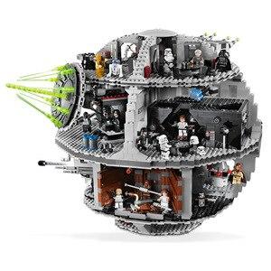 05035 05063 Звездные войны 10188 Звезда смерти 3 строительные блоки кирпичи игрушки Lepining 75159 детские игрушки для детей Рождественский подарок