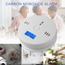 Чувствительный домашний CO2 Датчик детектор беспроводной CO Угарный газ, датчик дыма, ЖК-индикатор предупреждения, детектор сигнализации