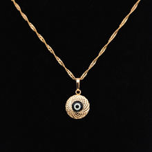 Ожерелье с черным глазом Женский Золотой кулон Рождественская