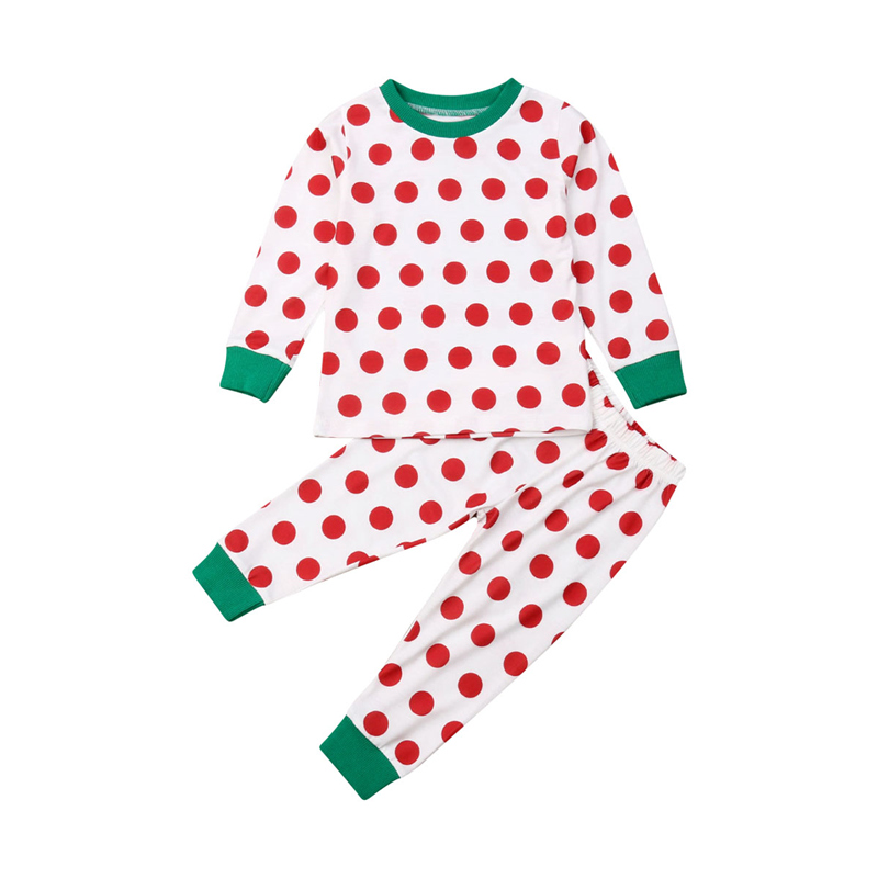 2019 Baby Boy Girl Soft cotton Christmas   Pajamas   Clothes   Set   Sleepwear Nightwear Outfit for Newborn Infant Children Kid Clothing