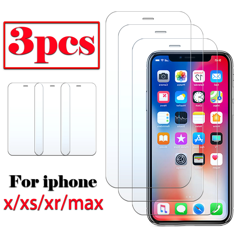 Protective Glass For Apple IPhone X Xs Xr Max Screen Protector Armored Tempered Glas Xmax Xmaxs I Ph Ip Phone Film 1 To 3 Pcs