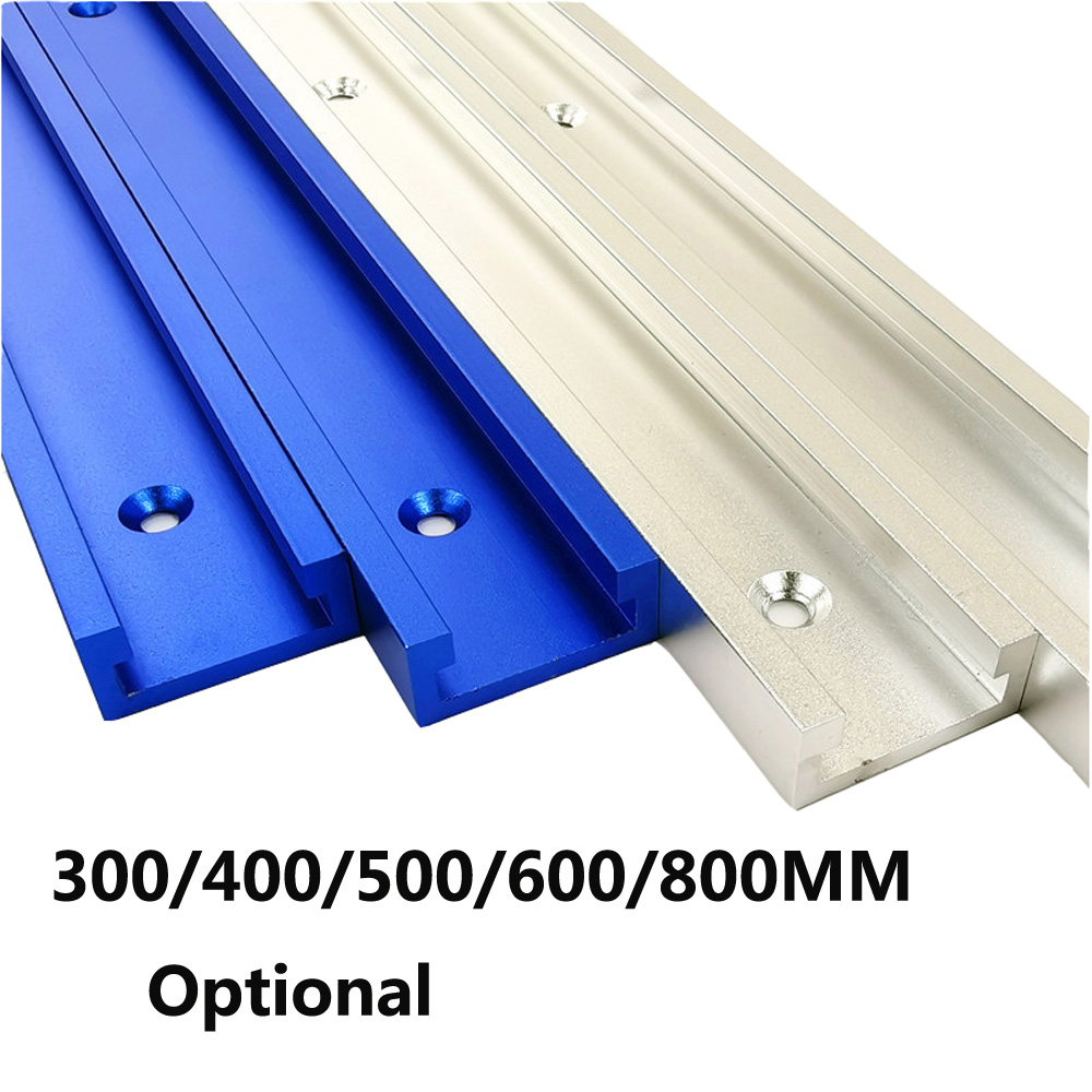 30 Type T Track Aluminium Woodworking T-slot Miter Track Jig Miter Track Stop For Router Table Bandsaws DIY Tools 300-800MM