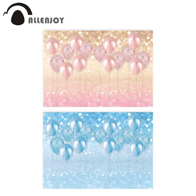 Allenjoy pink luxury balloon photography backdrop girl Boy bokeh glitter background Birthday Baby Shower photocall shoot prop