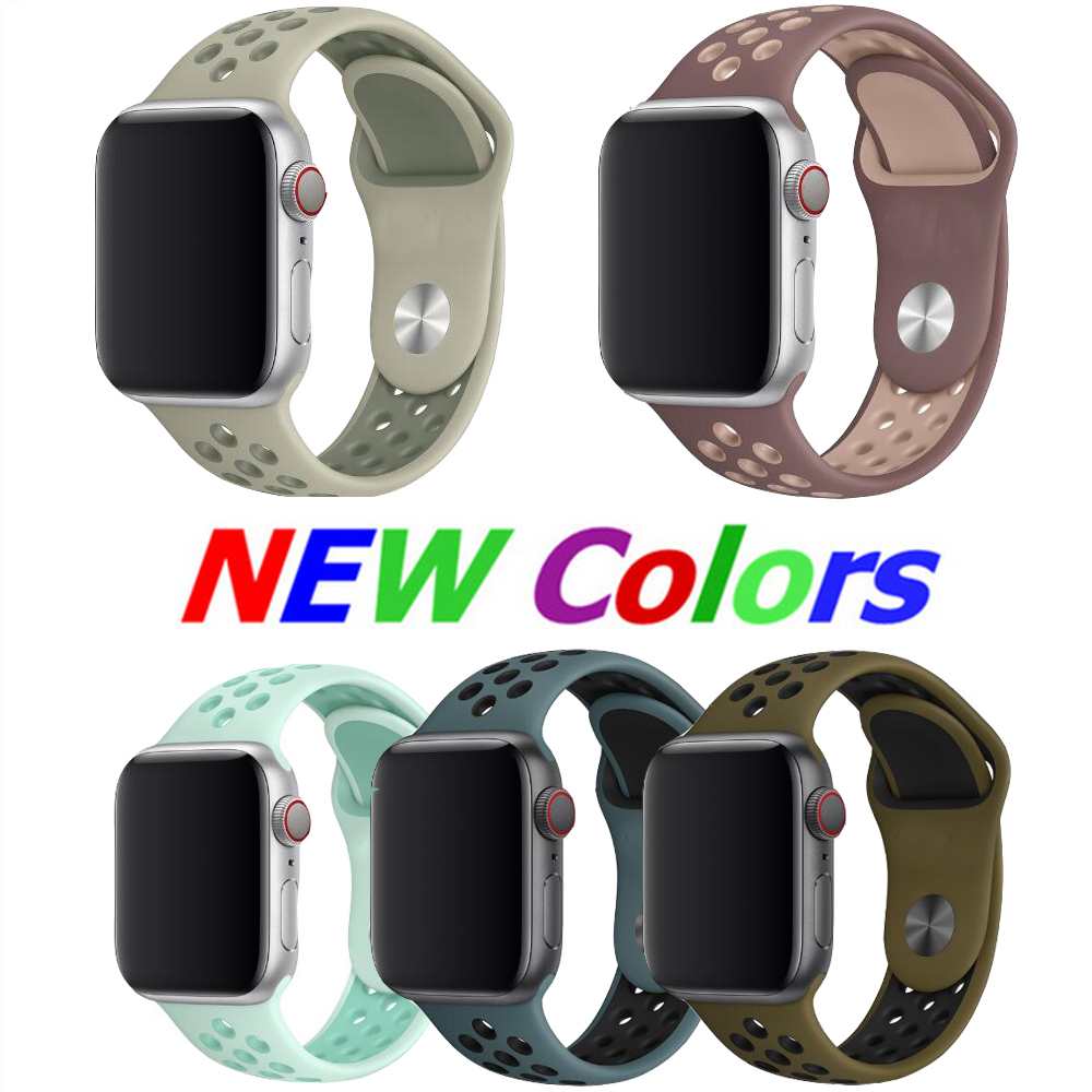 New Arrived Rubber Sport Band For Iwatch 4 3 2 1 Strap For Apple Watch 42mm 38mm 40mm 44mmseries 5