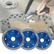 105/115/125 мм волна Стиль алмазный пильный диск для фарфоровой плитки Керамика сухой резки агрессивной диск Мрамор Гранит камень пильный диск