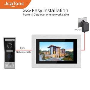 Image 4 - Видеодомофон, 7 дюймов, домофон wifi, IP, беспроводной дверной звонок, колонка, система контроля доступа, сенсорный экран, обнаружение движения