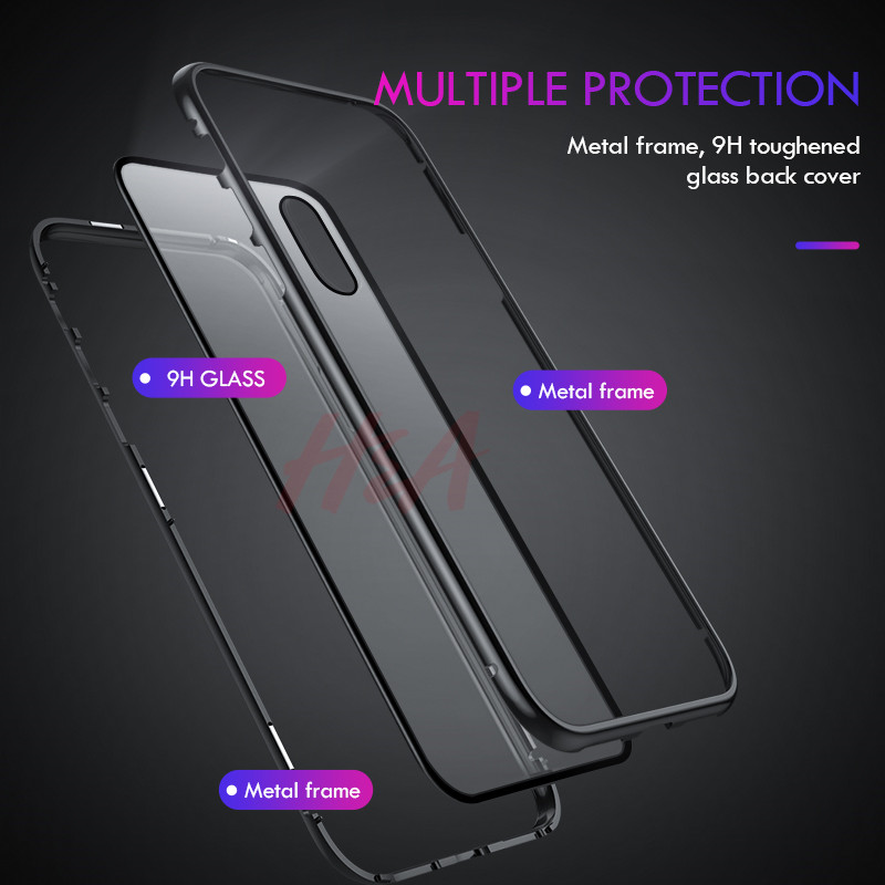 Image 4 - H&A Metal Magnetic Adsorption Case For iPhone XS MAX XR X 8 7 6 Plus Phone Case For iPhone XR XS MAX Magnet Magnetic Cover Case-in Phone Bumpers from Cellphones & Telecommunications