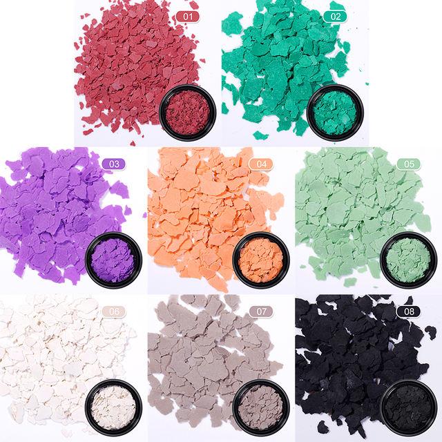 Nail Art 3D Decorations Irregular Meteorite Fragment Nail Flakies Micas Sheets Colorful Nail Art Flakes for Nail Design 1.5g