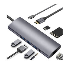 CARPRIE 9 in1 USB نوع C محور USB C 4K HDMI RJ45 SD/TF PD إيثرنت محول الصاعقة دونغل ل ماك بوك برو(China)
