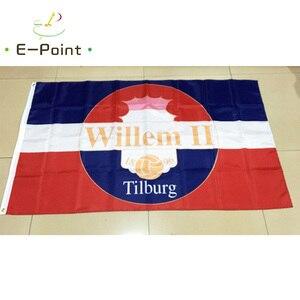 Нидерланды Виллем II тилбург FC 3 фута * 5 футов (96*144 см) размер рождественские украшения для дома флаг баннер тип A подарки