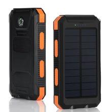 20000 мА/ч Солнечная Мобильная энергия, солнечная энергия, внешняя лампа, многофункциональное Внешнее зарядное устройство, резервный пакет с компасом, светильник