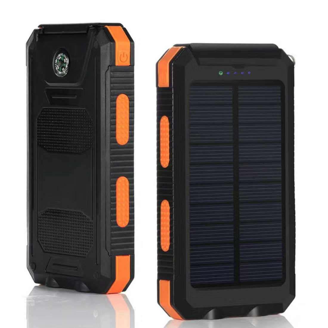 20000mAh Solar Mobile Power Solar Power Bank Outdoor Lamp Multifunction External Battery Charger Backup Pack With Light Compass