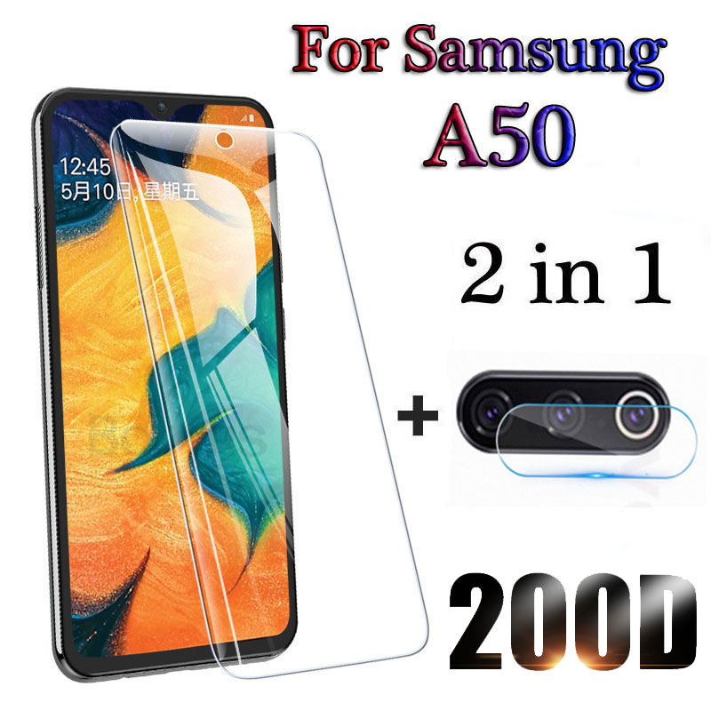 Tempered Glass For Samsung Galaxy A50 A70 A40 Protective Glass For Galaxy A30 A20e A60 A80 A10 Screen Protector Camera Lens Film