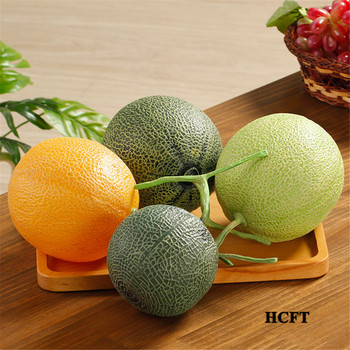 Home hotel bar cafe restaurant Shop Store decoration big faux Artificial Simulation honeydew melon cantaloupe fake fruit image