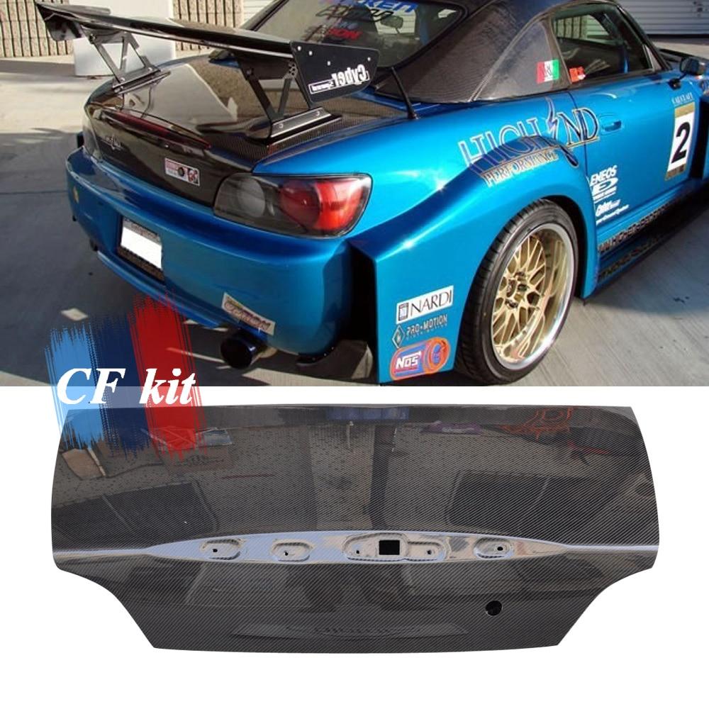 CF Kit Real Carbon Fiber Original Rear Trunk For Honda S2000 AP1 AP2 Style 2001-2008 Racing Car Styling Tuning Trim Body Kit