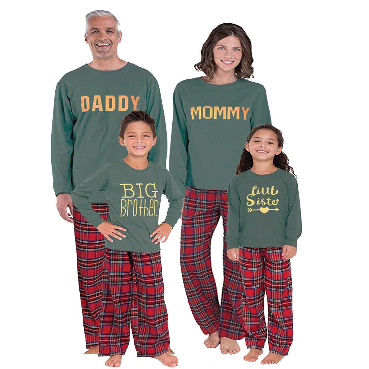 2020 noël famille correspondant vêtements famille pyjamas ensembles de vêtements pour père fils correspondant mère fille vêtements de noël tenues