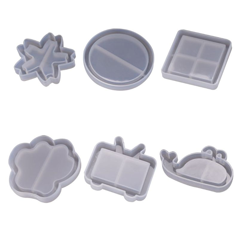 Silicone Molds Crystal Epoxy Mould New Quicksand Mold Snowflake Round Square Model DIY Handmade Pendant Jewelry Making