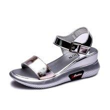 Sandales d'été à semelles épaisses pour femmes, chaussures de plage assorties avec tout, nouvelle collection