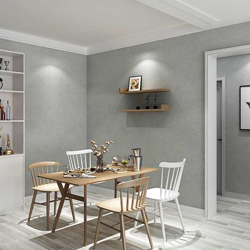 PVC 방수 벽지 롤 시멘트 회색 홈 인테리어 침실 거실 식당 배경 벽 스티커 3D 벽 종이