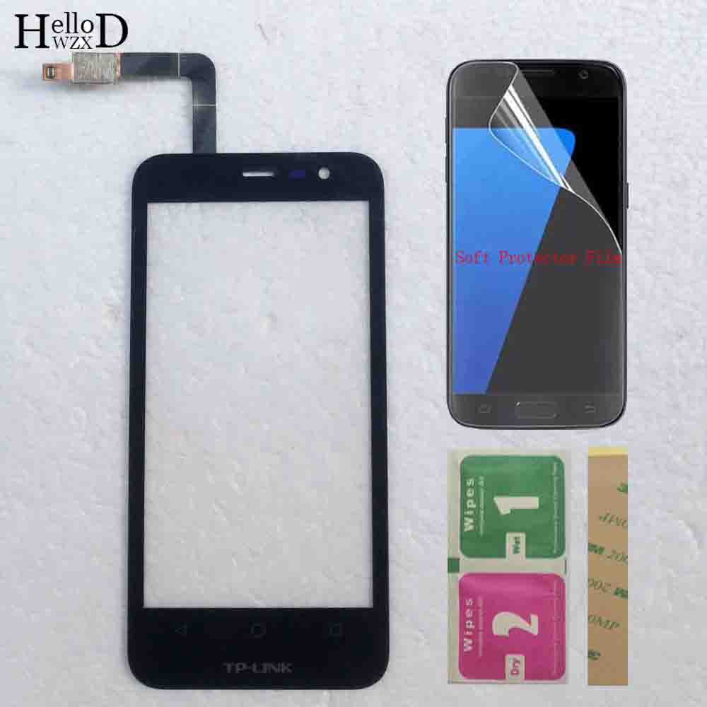 4.5'' Phone Touch Panel For TP-Link Neffos Y5L Touch Screen Glass Digitizer Panel Front Glass Tools Tape Protector Film