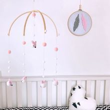 Toys Bell Rattles-Bed Hanging-Decorations Wind-Chimes Wool-Balls Animals Mobile 1set