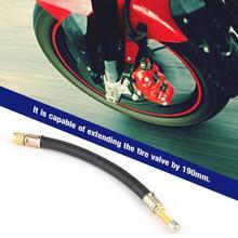 190 мм Автомобиль Грузовик Мотоцикл для колес Стикеры для колеса шины клапана Удлинительный клапан расширение стержня колеса расширение стержня клапана
