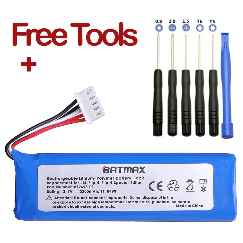 3.7V 3200mAh Battery GSP872693 01 For JBL Charge 4 JBL Flip 4, Flip 4 Special Edition