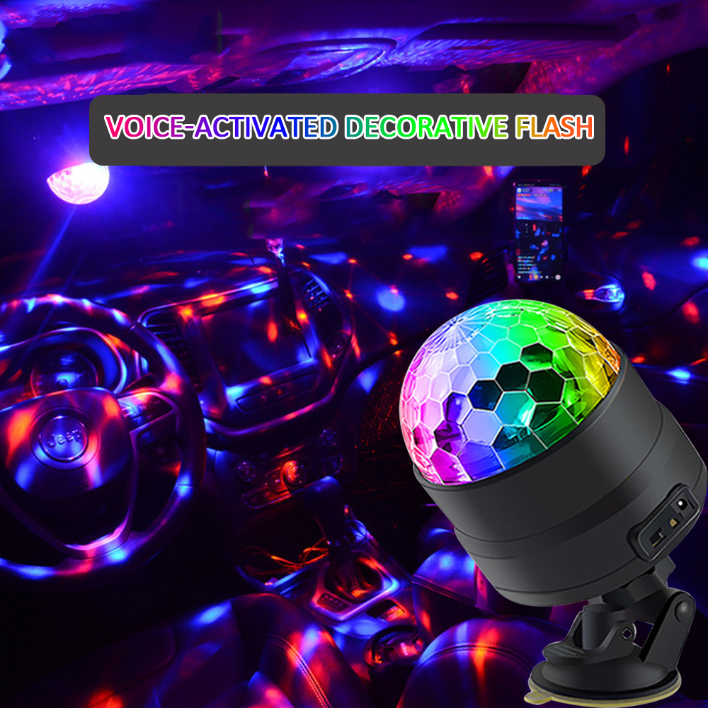 Car DJ Music Light Mini RGB <font><b>LED</b></font> <font><b>Lamp</b></font> For <font><b>Mazda</b></font> Speed 2 3 <font><b>5</b></font> 6 Axela Atenza MX RX MX3 MX5 <font><b>cx</b></font>-7 <font><b>cx</b></font>-9 cx5 Protege 323 Exterior Badge image